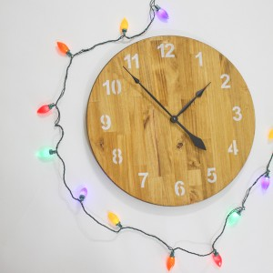 "Brand New Round Clock by Field Treasure Designs. Measures 24"" x 24"""