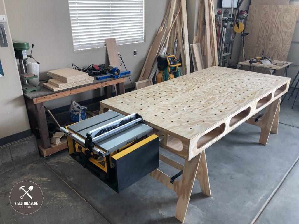Building The Paulk Workbench Part 1 Main Cuts Saw Horses