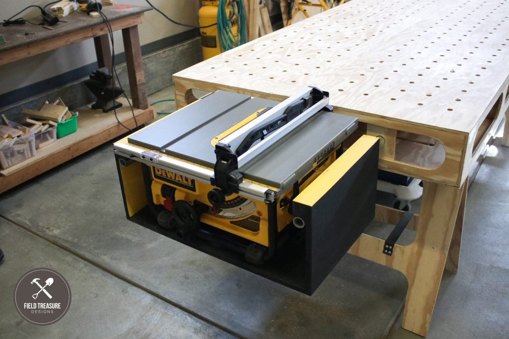 Astounding Building The Paulk Workbench Part 3 Table Saw Mount Alphanode Cool Chair Designs And Ideas Alphanodeonline