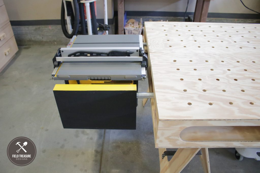 Building The Paulk Workbench Part 3 Table Saw Mount