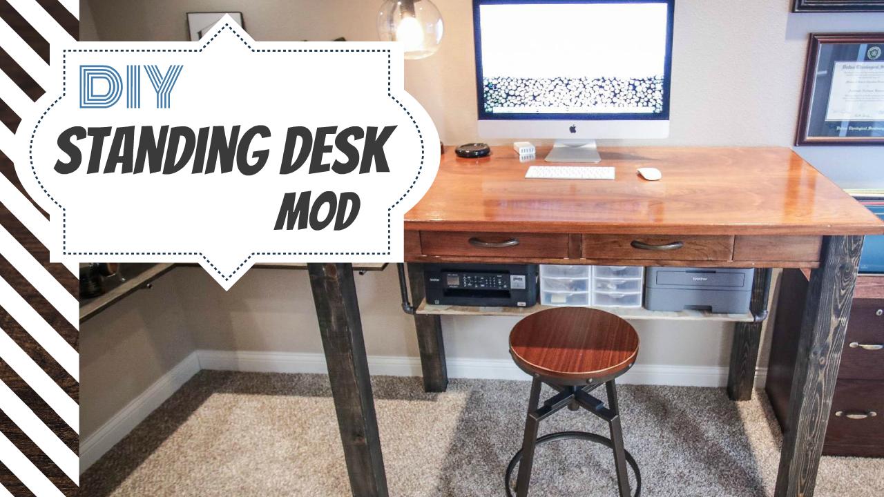 My DIY Standing Desk Modification!  Field Treasure Designs