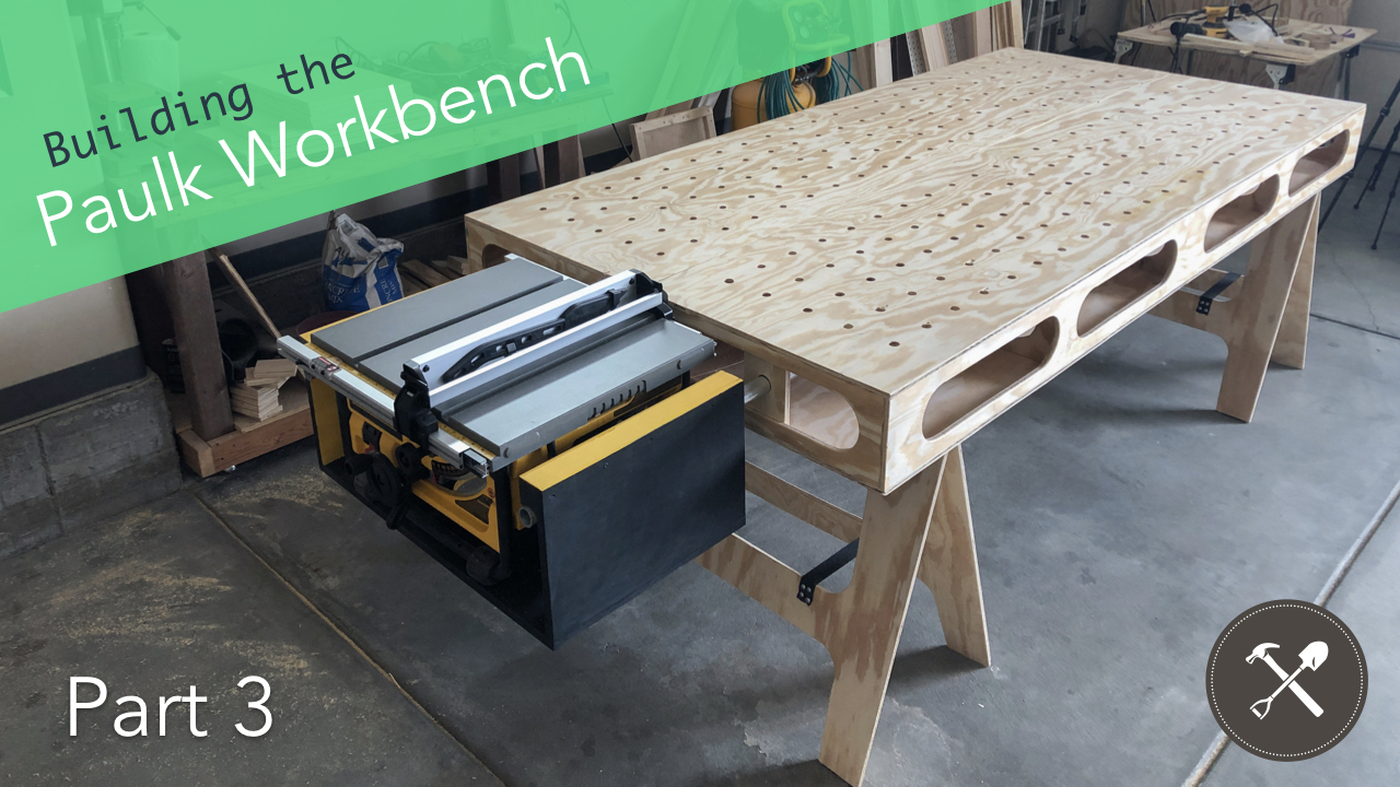 Super Building The Paulk Workbench Part 3 Table Saw Mount Ibusinesslaw Wood Chair Design Ideas Ibusinesslaworg