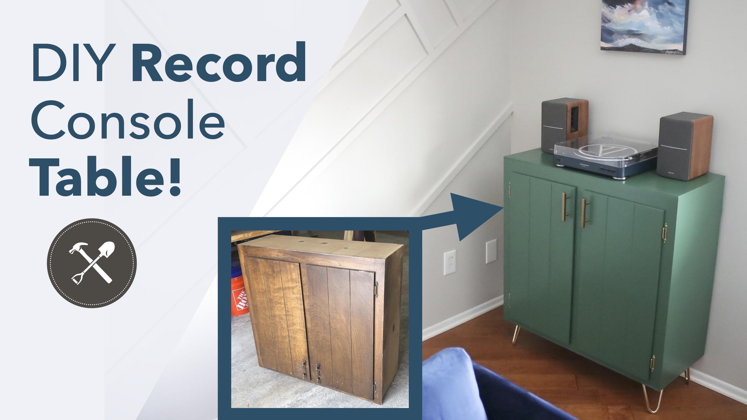 DIY Record Console Table