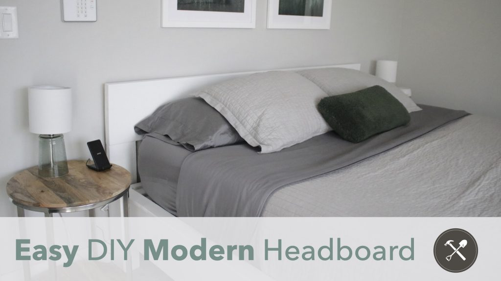 Easy DIY Modern Headboard