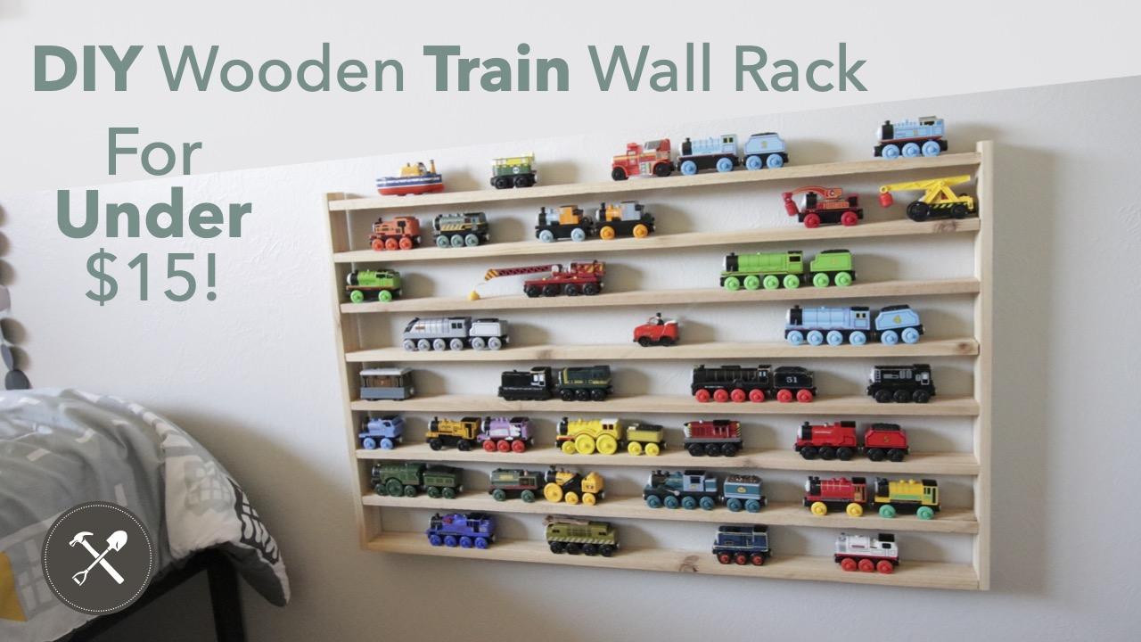 DIY Thomas Wooden Train Wall Rack Thumbnail